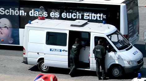 Videowagen der Polizei